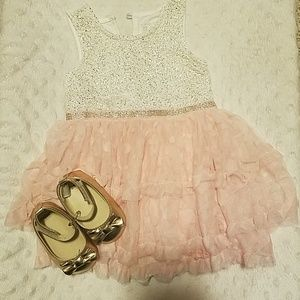 Baby girl dress and shoes